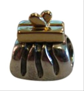 PANDORA Authentic Pandora Two-Tone Clutch Purse Charm #790475