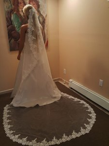 Bridal Mantilla Veil Ivory With Comb Style # M804