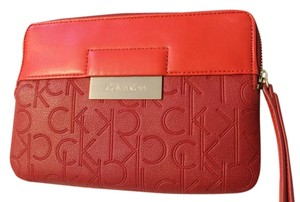 Calvin Klein Wristlet in Red