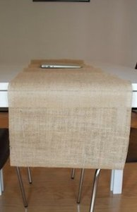 Qty 12- Handmade Burlap Table Runners