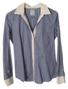 Brooks Brothers Button Down Shirt Blue and White