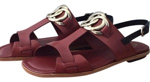 Tod's Brown with black strap Sandals