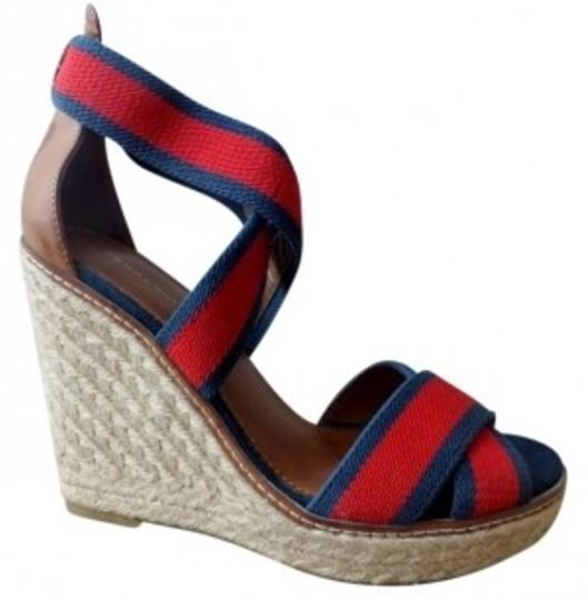 Preload https://img-static.tradesy.com/item/158728/tommy-hilfiger-red-and-navy-espadrille-wedges-size-us-7-0-0-540-540.jpg