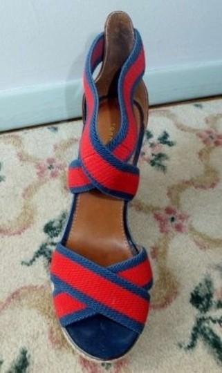 Tommy Hilfiger Espadrille red and navy Wedges