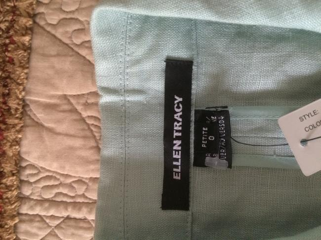 Ellen Tracy Linen Blazer Open Light green Jacket Image 10