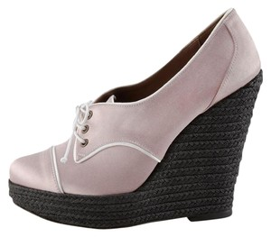 Tabitha Simmons Pink and white Wedges