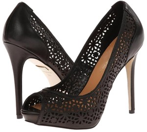 Badgley Mischka Leather Pump Mishcka Black Pumps