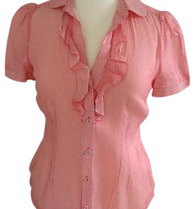 Banana Republic Top Coral red/white