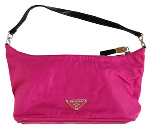 Prada Nylon Hot Pink Designer Hobo Bag