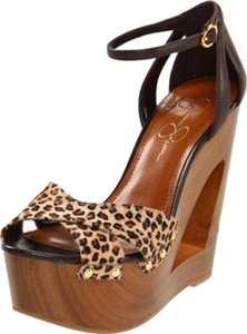 Jessica Simpson Tan/ Cheetah Wedges