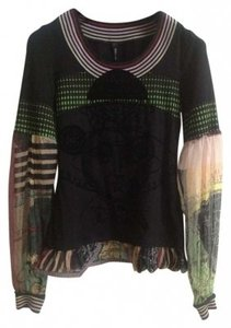 Pianurastudio One-of-a-kind Elegant Fun Conversation Piece Sweater