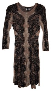 BCBGMAXAZRIA Knit Lace Print Dress
