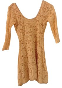 Free People short dress Light peach on Tradesy