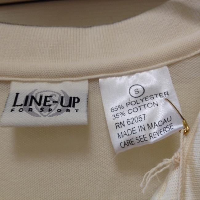 Line Up for Sport Button Down Shirt Cream