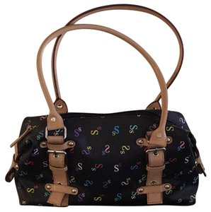 Tote in Black with multi colors