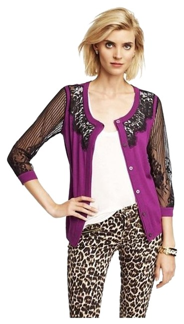 Preload https://img-static.tradesy.com/item/15874540/juicy-couture-purple-with-lace-sleeves-small-cardigan-size-4-s-0-1-650-650.jpg