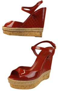 Gucci Red/Rose Bed Wedges