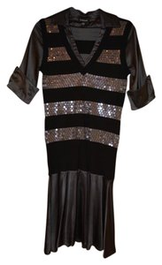 bebe Silk Sequin Knit Dress