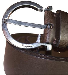 Salvatore Ferragamo Salvatore Ferragamo Men's Belt. Gancio Hickory Leather