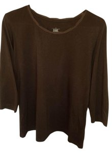 Christopher & Banks Top Brown