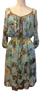 Hale Bob short dress Teal/Brown Multi on Tradesy