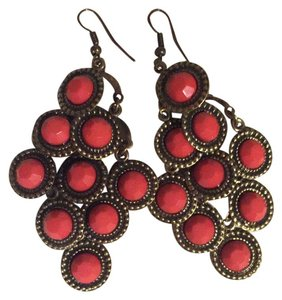 Icing Red Dangle Earrings
