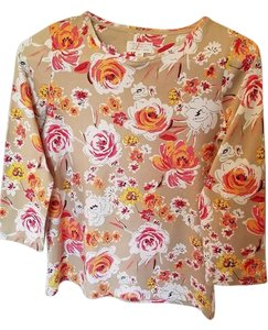 Charter Club Top Taupe/floral