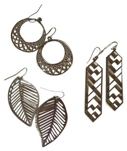Icing Silver Dangle Earrings (3-Pack)