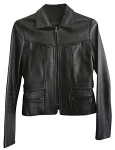 Rem Garson Belted Leather Jacket