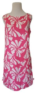 Lilly Pulitzer short dress White & Pink Resort Designer on Tradesy