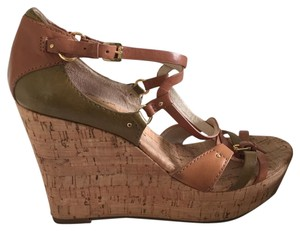 MICHAEL Michael Kors Tan/olive Wedges