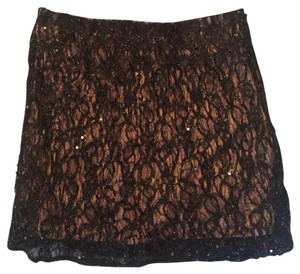 Criss Cross Mini Skirt Black