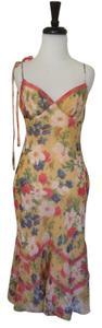 Betsey Johnson Silk Floral Pink Dress