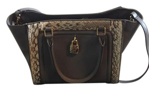 Juicy Couture Snakeskin Color-blocking Cross Body Bag