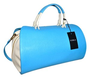 Furla Made In Italy Satchel in Turquoise Blue