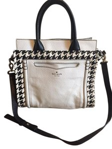 Kate Spade Houndstooth Satchel in Black/White