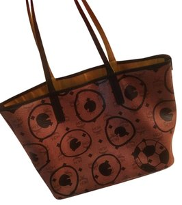 MCM Tote in Brown and black