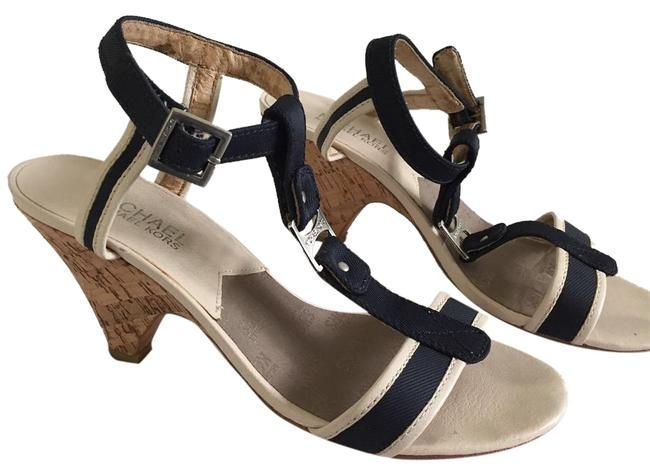 MICHAEL Michael Kors Navy/Ivory Wedges Size US 6.5 Regular (M, B) MICHAEL Michael Kors Navy/Ivory Wedges Size US 6.5 Regular (M, B) Image 1