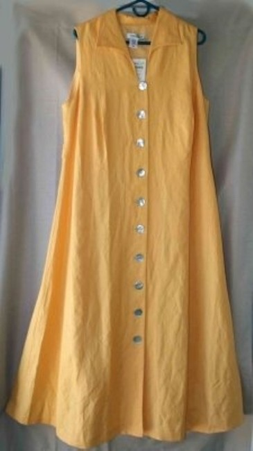 Preload https://img-static.tradesy.com/item/158764/coldwater-creek-yellow-mid-length-casual-maxi-dress-size-18-xl-plus-0x-0-0-650-650.jpg