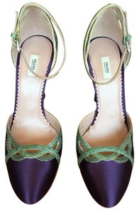 Prada Snakeskin Reptile Purple & Green Pumps
