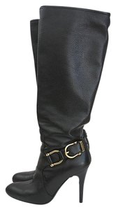 Burberry Leather Knee High Black Boots