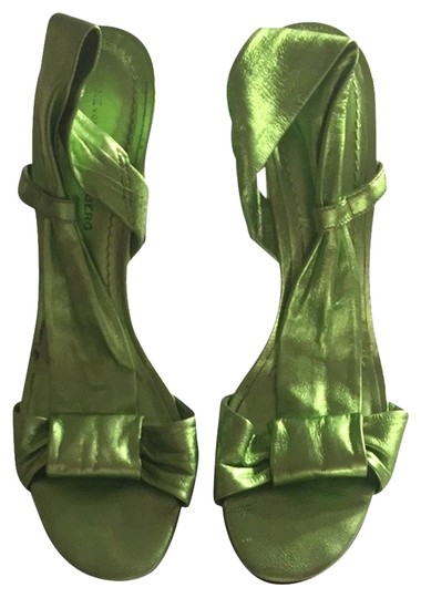 Diane von Furstenberg Green Pumps
