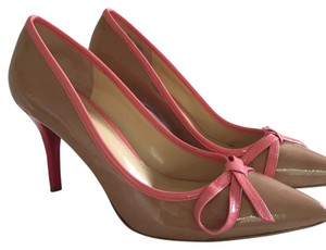 Enzo Angiolini Nude with pink Pumps
