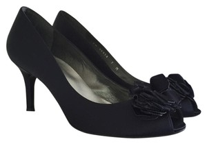 Stuart Weitzman Navy Blue Satin Formal