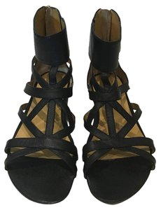 Nine West Gladiator Leather Black Sandals