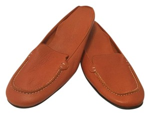 Cole Haan Backless Orange leather Flats