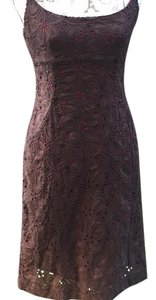 Ann Taylor short dress Brown with fuscia lining on Tradesy