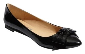 Report Signature Kathryn Patent Leather Cute Bow Mary Jane Comfortable black Flats