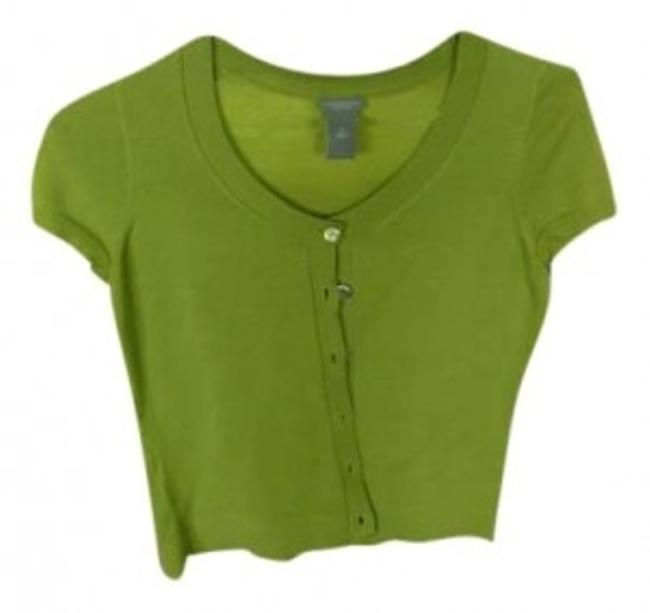 Preload https://item5.tradesy.com/images/ann-taylor-green-cardigan-size-petite-6-s-158784-0-0.jpg?width=400&height=650