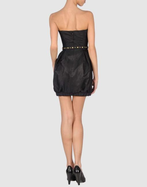Mark & James by Badgley Mischka Strapless Bubble Belted Dress Image 1